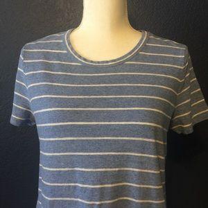 Lou & Grey Dresses - LOU & GREY Striped Linen Blend Tee Shirt Dress